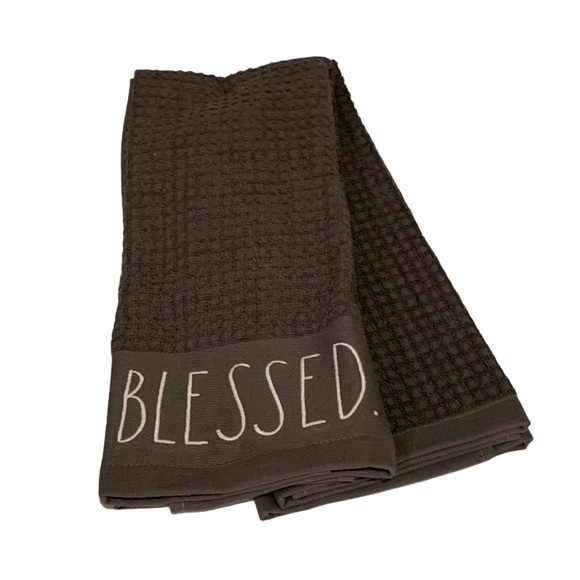 Rae Dunn Set of 2 Kitchen Towels BLESSED